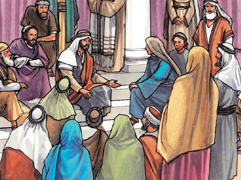 Day after day I sat teaching in the temple courts, yet you did not arrest me. But this has happened so that the scriptures of the prophets would be fulfilled.' – Slide 18