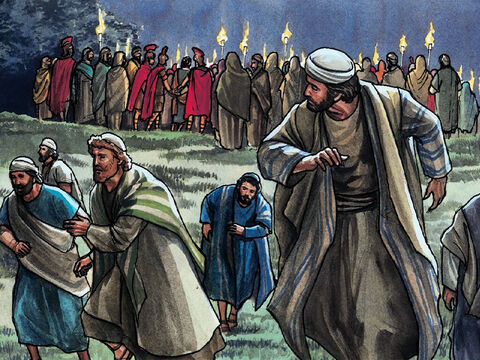 Then all the disciples left Jesus and fled. – Slide 19