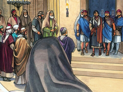 Now the ones who had arrested Jesus led Him to Caiaphas the High Priest … – Slide 1