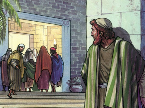 Peter was following from a distance all the way to the High Priest's courtyard. – Slide 3