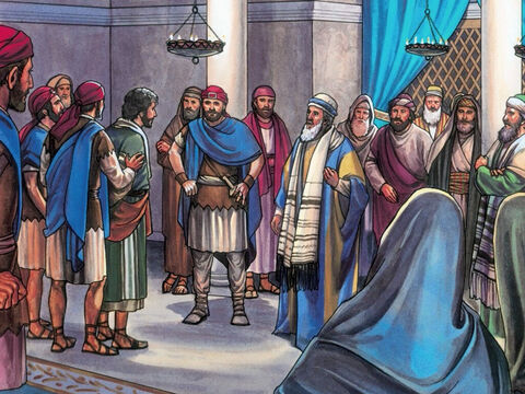 The Chief Priests and the whole Sanhedrin, were trying to find false testimony against Jesus so they could put Him to death. – Slide 5