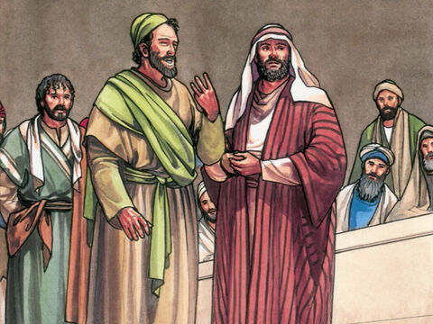 Finally two came forward who declared, 'This man said, 'I am able to destroy the Temple of God and rebuild it in three days.' – Slide 7