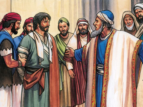 So the High Priest stood up and said, 'Have you no answer? What is this they are testifying against you?' – Slide 8