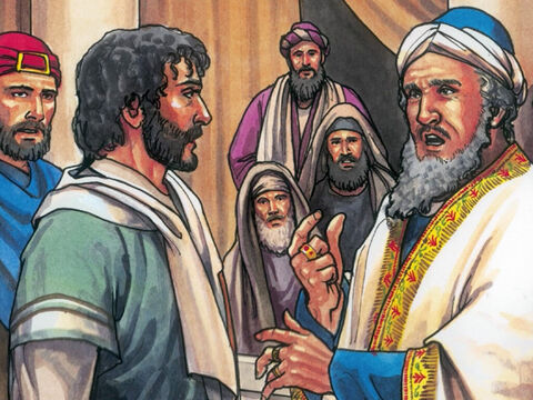 But Jesus was silent. The High Priest said to Him, 'I charge you under oath. By the living God tell us if you are the Christ, the Son of the living God.' – Slide 9