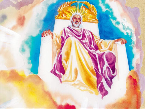 Jesus said to him, 'You have said it yourself. But I tell you from now on you will see the Son of Man sitting at the right hand of the power and sitting on the clouds of heaven.' – Slide 10