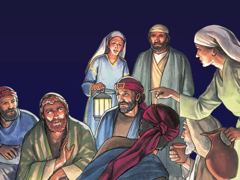 Now Peter was sitting outside in the courtyard, A slave girl came to him and said, 'You were also with Jesus – the Galilean. But he denied it in front of them all, 'I don't know what you are talking about.' – Slide 1