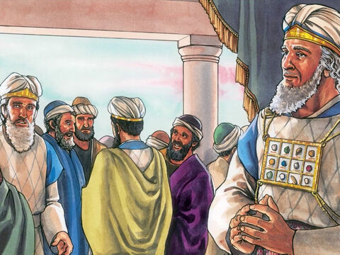 When it was early in the morning, all the Chief Priests and the elders of the people plotted against Jesus to execute Him. – Slide 8