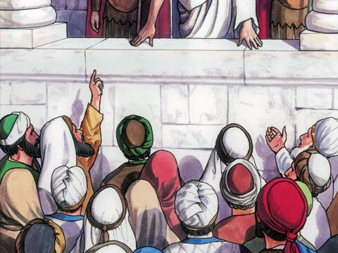 The Jewish leaders replied, 'We cannot legally put anyone to death.' This happened to fulfill the word Jesus had spoken when He indicated what kind of death He was going to die. – Slide 7