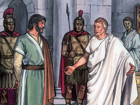 Then Pilate said, 'So you are a King. Jesus replied, 'You say that I am a King, For this reason I was born and for this reason I came into the world, to testify to the truth. Everyone who belongs to the truth, listens to my voice.' – Slide 12