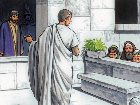 So Pilate asked them, 'Do you want me to release the King of the Jews for you?' He knew the Chief Priest had handed Him over because of envy. – Slide 4