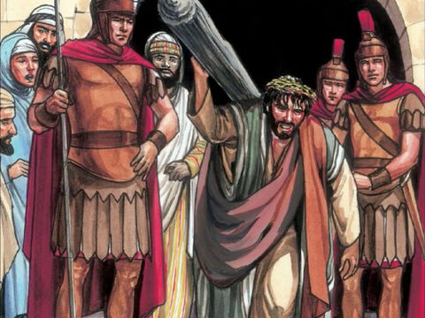 As they led Jesus away, they seized Simon of Cyrene, who was coming in from the country. – Slide 4