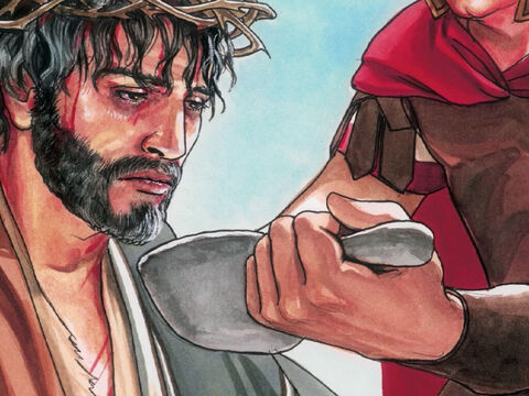 They offered Jesus wine mixed with gall to drink, but after tasting it He would not drink it. – Slide 2