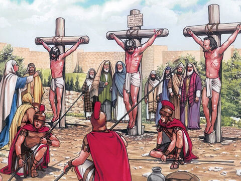 It was nine o'clock in the morning when they crucified Jesus. – Slide 8