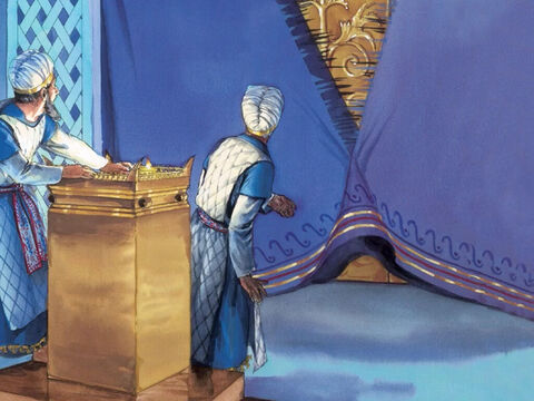 Just then, the temple curtain was torn in two from top to bottom. – Slide 6