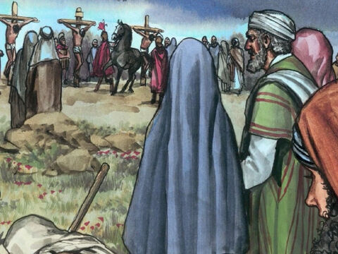 There were also women watching from a distance. Among them were Mary Magdalene and Mary the mother of James the younger and Joseph and Salome. – Slide 10