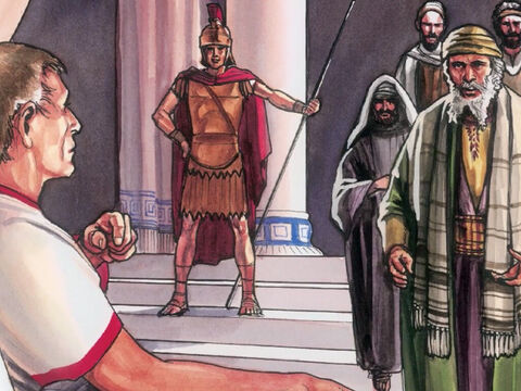 … the Jewish leaders asked Pilate to have the victims' legs broken and the bodies taken down. – Slide 2