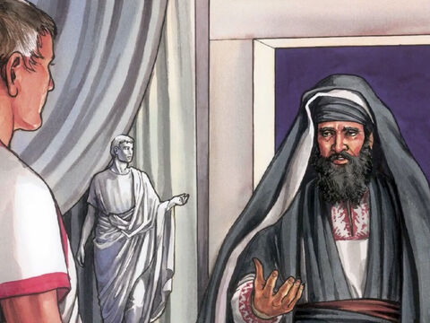 Now when evening had already come, since it was the day of preparation, that is the day before the Sabbath, Joseph of Arimathea, a highly regarded member of the council, who was looking forward to the Kingdom of God, went boldly to Pilate and asked for the body of Jesus. – Slide 6