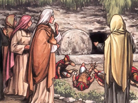 But when they arrived, they saw that the stone, which was very large, had been rolled away. – Slide 6