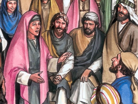 Now it was Mary, Mary Magdalene, Joanna, Mary the mother of James and the other women with them who told these things to the apostles. But these words seemed pure nonsense and they did not believe them. – Slide 12