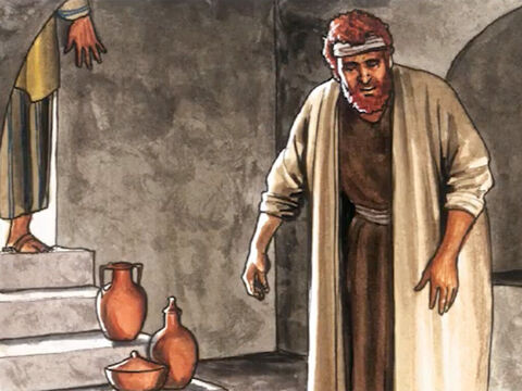 Then Simon Peter who had been following him went right into the tomb. – Slide 15