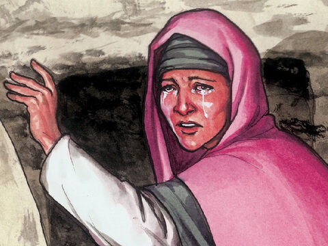 She turned and said to Him in Aramaic, 'Rabboni, (which means teacher).' – Slide 9