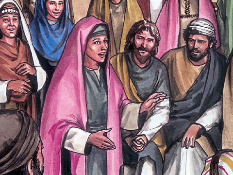 Mary Magdalene came and informed the disciples, 'I have seen the Lord!' And she told them what Jesus  had said to her. – Slide 11