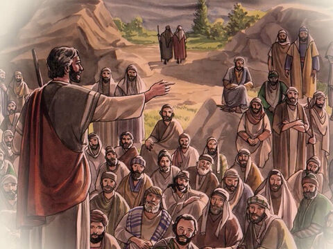 'The things concerning Jesus the Nazarene,' they replied, 'a man who, with his powerful deeds and words, proved to be a prophet before God and all the people. – Slide 6