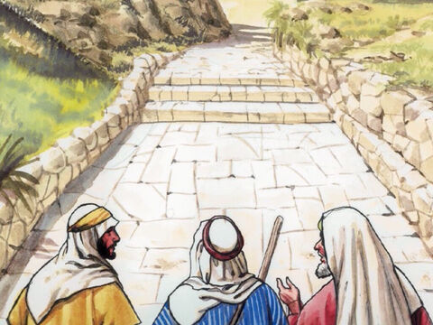 So they approached the village where they were going. Jesus acted as though He wanted to go farther … – Slide 19