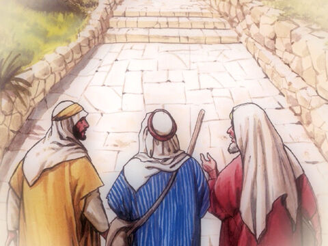 They said to each other, 'Didn't our hearts burn within us while He was speaking with us on the road, while He was explaining the scriptures to us?' – Slide 23