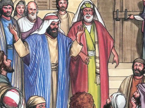 Then they told what had happened on the road, and how they recognised Him when He broke the bread. – Slide 27