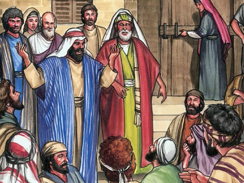 On the evening of the first day of the week, the disciples had gathered together … – Slide 1