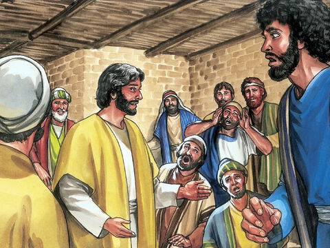 Jesus came and stood among them and said, 'Peace be with you.' – Slide 3