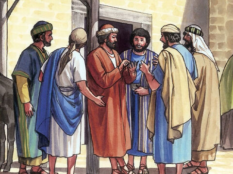 Eight days later, the disciples were together in the house and Thomas was with them. – Slide 8