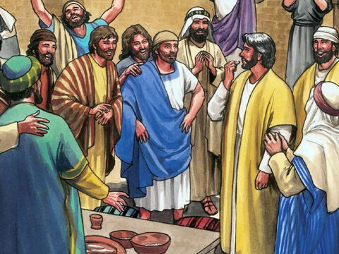 Although the doors were locked, Jesus stood among them and said, 'Peace be with you.' – Slide 9