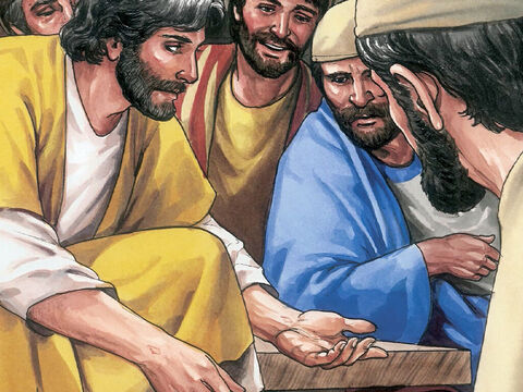 Then He said to Thomas, 'Put your finger here and examine my hands, Extend your hand and put it into my side. Do not continue in your unbelief but believe.' – Slide 10