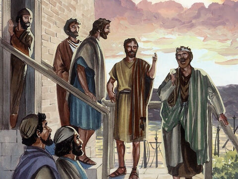Simon Peter, Thomas (called Didymus), Nathanael (who was from Cana in Galilee), the sons of Zebedee, and two other disciples of Jesus were together. Simon Peter told them, 'I am going fishing.' <br/>'We will go with you,' they replied. – Slide 2