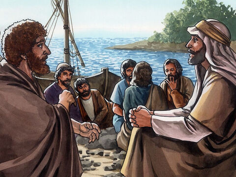 Then, when they had finished breakfast, Jesus said to Simon Peter, 'Simon, son of John, do you love me more than these do?' <br/>He replied, 'Yes, Lord, you know I love you.' – Slide 11