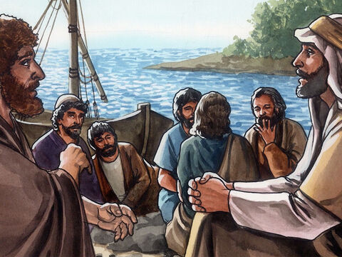 Jesus said a second time, 'Simon, son of John, do you love me?' <br/>He replied, 'Yes, Lord, you know I love you.' – Slide 13