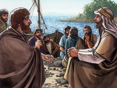 (Now Jesus said this to indicate clearly by what kind of death Peter was going to glorify God.) After he said this, Jesus told Peter, 'Follow Me.' – Slide 17