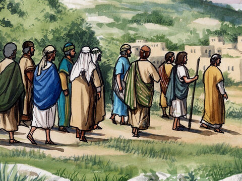 Then Jesus led them out as far as Bethany … – Slide 5