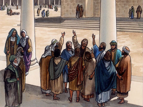 They were continually in the temple courts blessing God. – Slide 12