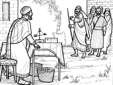 Jesus calls Mathew, the tax collector, to be His disciple. <br/>Mark 2:14-17, Luke 5:27-32 – Slide 3