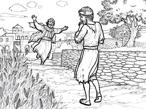 The prodigal son returns to his father. <br/>Luke 15:11-32 – Slide 6