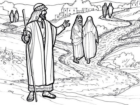 Jesus sends out His disciples two by two to spread the good news of the Kingdom of God. <br/>Matthew 10:1-42, Mark 6:7-31, Luke 9:1-10 – Slide 13