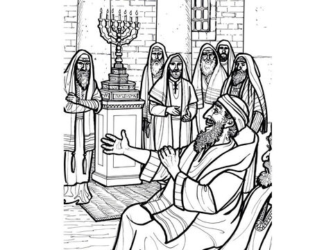 A man with a withered hand is healed by Jesus in the synagogue. <br/>Matthew 12:1-14, Mark 3:1-6, Luke 6:1-11 – Slide 6