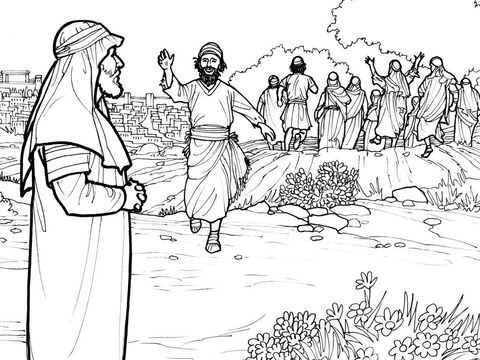 One of the ten men healed of leprosy by Jesus returns to say thank you. <br/>Luke 17:11-18 – Slide 7