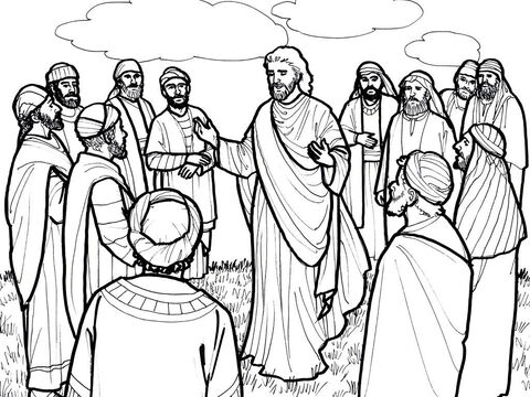 Jesus appears to His disciples and talks with them before His ascension. <br/>Luke 24:44-49, Acts 1:10-11 – Slide 8