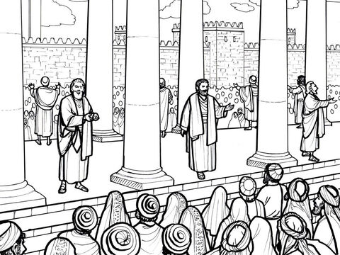 The early believers meet together in the Temple courts. Acts 2:42-47 – Slide 3