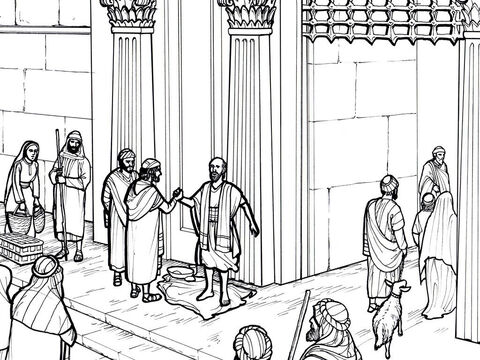 A lame man outside the Temple is healed. Acts 3:1-10 – Slide 6