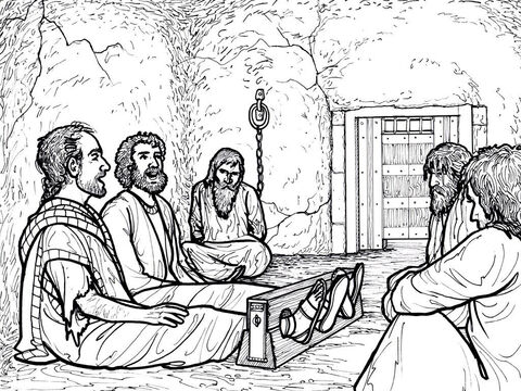 Paul and Silas sing praises to God while in Prison in Philippi. Acts 16:16-40 – Slide 10